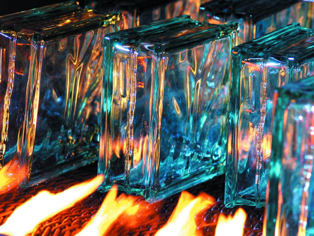 Glastegels en glasdallen productie in de fabriek